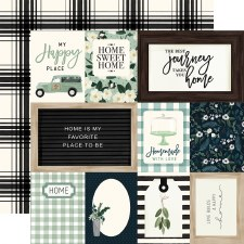 Home Again 12x12 Paper- Journaling Cards