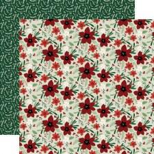 A Cozy Christmas 12x12 Paper- Joyful Floral