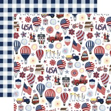America the Beautiful 12x12 Paper- Land of the Free