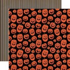Happy Halloween 12x12 Paper- Laughing Pumpkins