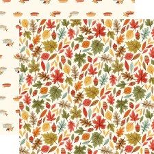 Hello Autumn 12x12 Paper- Leaves
