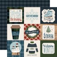 Let It Snow 12x12 Paper- 4x4 Cards