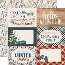 Let It Snow 12x12 Paper- 4x6 Cards