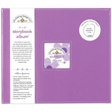 Doodlebug 12x12 Storybook 3-Ring Album- Lilac