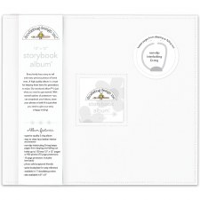 Doodlebug 12x12 Storybook 3-Ring Album- Lily White