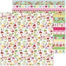 Christmas Magic 12x12 Paper- Little Helpers