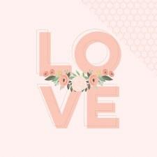 Bliss 12x12 Paper- Love w/ Gold Foil