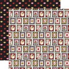 Be My Valentine 12x12 Paper- Love Stamps