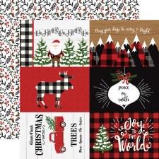 A Lumberjack Christmas 12x12 Paper- 4x6 Cards
