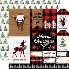 A Lumberjack Christmas 12x12 Paper- Multi Cards