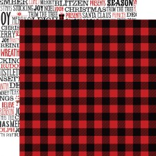 A Lumberjack Christmas 12x12 Paper- Lumberjack Flannel