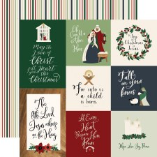 Away in a Manger 12x12 Paper- Journaling Cards