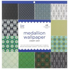 12x12 Patterned Paper Pad- Medallion Wallpaper