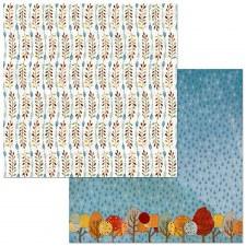 Beautifully Brisk 12x12 Paper- Memories