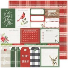 Heidi Swapp Winter Wonderland 12x12 Paper- Merry & Bright