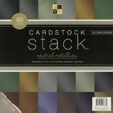 12x12 DCWV Paper Stack- Metallic Cardstock