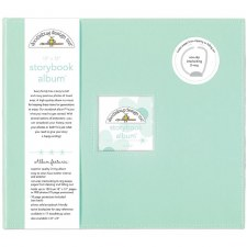 Doodlebug 12x12 Storybook 3-Ring Album- Mint
