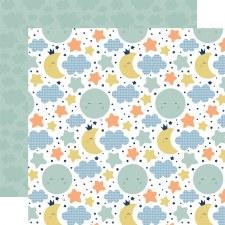 Baby Boy 12x12 Paper- Moon & Stars