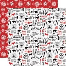 A Lumberjack Christmas 12x12 Paper- Mountain Christmas