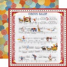 Circus 12x12 Paper- Music Sheet