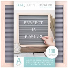 DCWV Framed Letterboard 12x12- Natural w/ Gray Insert