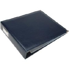 We R Memory Keepers 12x12 Classic Leather 3-Ring Binder- Navy