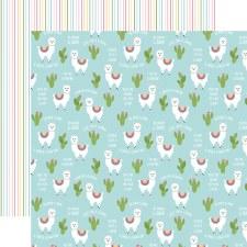All Girl 12x12 Paper- No Prob-Llama