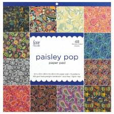 12x12 Patterned Paper Pad- Paisley Pop