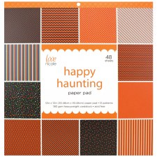 12x12 Patterned Paper Pad- Happy Haunting