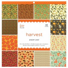 12x12 Patterned Paper Pad- Harvest