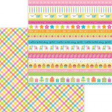 Hey Cupcake 12x12 Paper- Party Girl Plaid