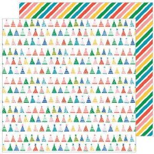 Cake Day 12x12 Paper- Party Hats