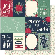Peace on Earth 12x12 Paper- 3x4 and 4x6 Cards