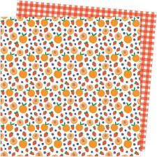 Amy Tangerine Picnic in the Park 12x12 Paper- Peach Pit