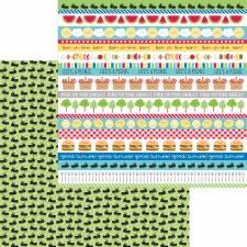 Bar-B-Cute 12x12 Paper - Picnic Parade