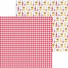 Bar-B-Cute 12x12 Paper - Picnic Plaid