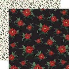 Christmas Market 12x12 Paper- Poinsettias