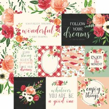 Botanical Garden 12x12 Paper- Poppy Cards