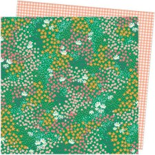 Amy Tangerine Picnic in the Park 12x12 Paper- Pretty Patches