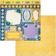 Bee-Utiful 12x12 Paper- Pretty