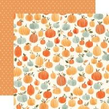 Hello Autumn 12x12 Paper- Pumpkins