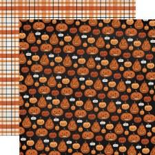 Halloween Market 12x12 Paper- Pumpkins