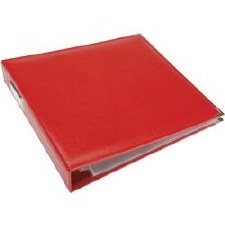 We R Memory Keepers 12x12 Classic Leather 3-Ring Binder- Real Red