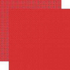 Dots 12x12 Paper- Red
