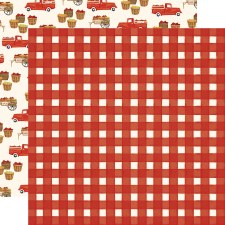 Fall Market 12x12 Paper- Red Gingham