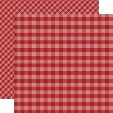 Autumn Gingham 12x12 Paper- Red