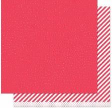 Let it Shine 12x12 Paper- Red w/ Gold Foil