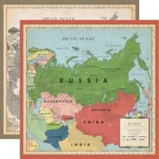 Cartography No.2 12x12 Paper- Russia