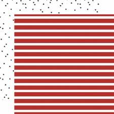 Deep Blue Sea 12x12 Paper- Sailor Stripe