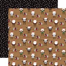 A Lumberjack Christmas 12x12 Paper- Santas